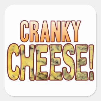 Cranky Blue Cheese Square Sticker