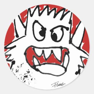 Cranky Cartoon Monster Sticker