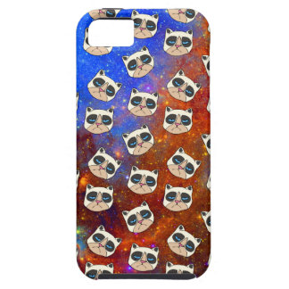 Cranky Cat in Space phone case