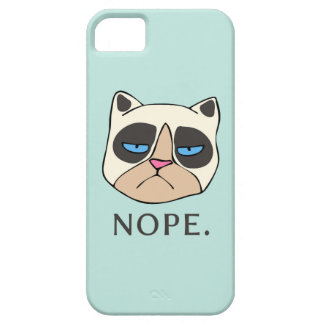 Cranky Cat says Nope II phone case