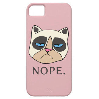 Cranky Cat says Nope phone case