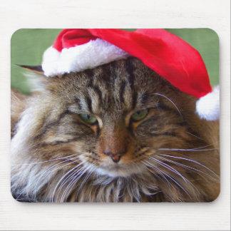Cranky Christmas Cat Mousepad