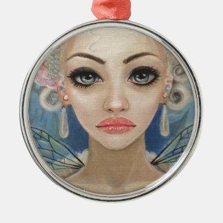 Cranky Fairy Original Art Silver-Colored Round Decoration