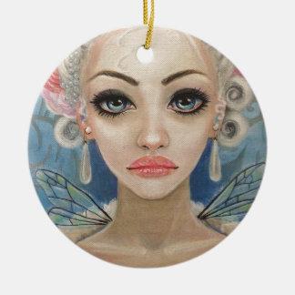 Cranky Fairy Original Art Round Ceramic Decoration