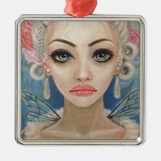 Cranky Fairy Original Art Silver-Colored Square Decoration