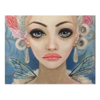 Cranky Fairy Original Art Postcard