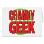 Cranky Geek Greeting Card