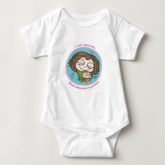 Cranky Girl- I love smooches from rescued pooches! Baby Bodysuit