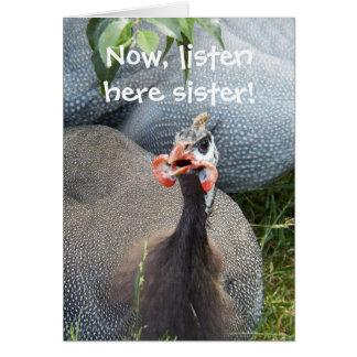 Cranky Hen Photo Funny Birthday Card