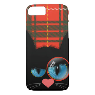 Cranky McCat the Scottish Black Cat iPhone 8/7 Case