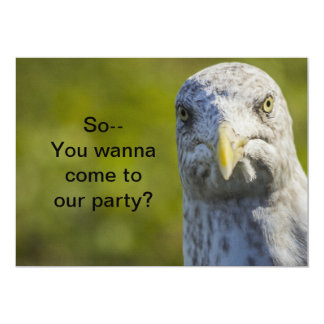Cranky Old Seagull (Add Your Own Text) Card