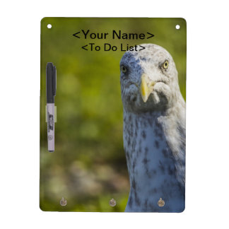 Cranky Old Seagull (Add Your Own Text) Dry-Erase Board