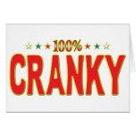 Cranky Star Tag Card