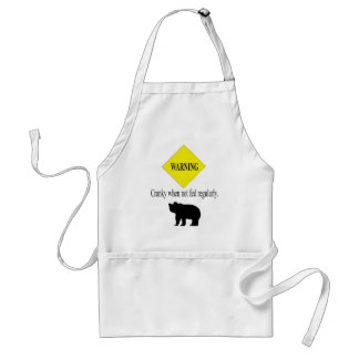 Cranky when not fed regularly bear apron