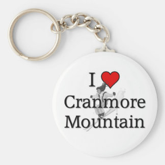 Cranmore Mountain Basic Round Button Keychain