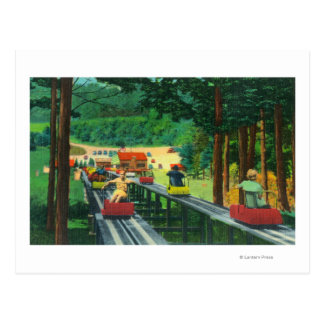 Cranmore Mountain Ski-Mobile in Summertime Post Card