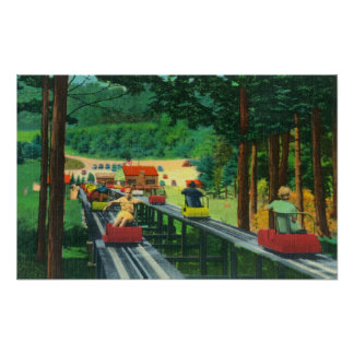 Cranmore Mountain Ski-Mobile in Summertime Posters