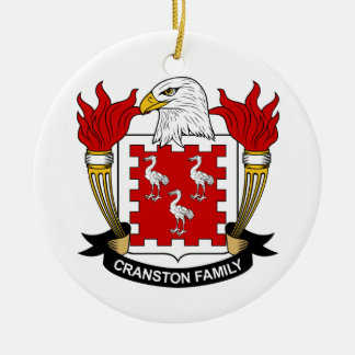Cranston Family Crest Ceramic Ornament