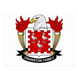 Cranston Family Crest Postcard
