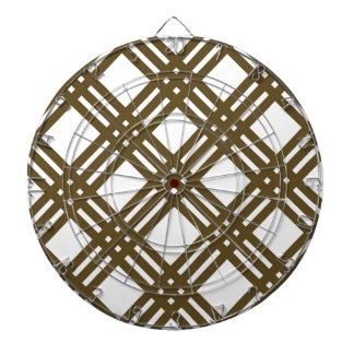Crap Brown and White Gingham Dart Boards