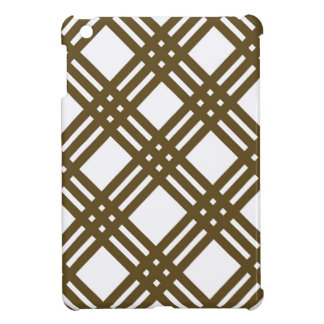 Crap Brown and White Gingham iPad Mini Cases