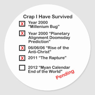 Crap I Have Survived Classic Round Sticker