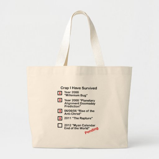 Crap I Have Survived Jumbo Tote Bag