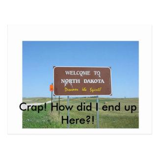 Crap! North Dakota Postcard