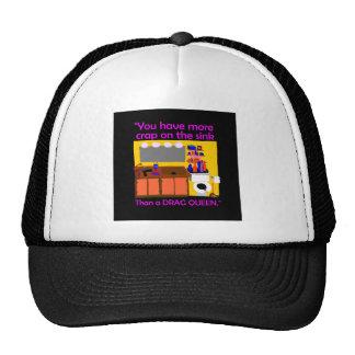 Crap on sink drag queen button trucker hat