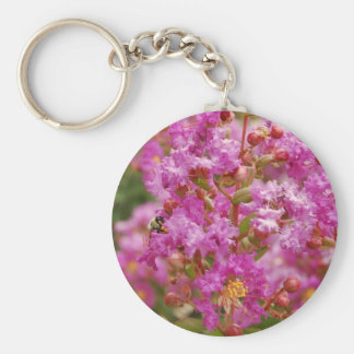 Crape Myrtle Blossom Keychain