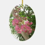 Crape Myrtle rosado 1 Ornamento Para Arbol De Navidad