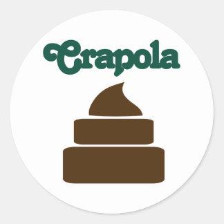 Crapola Classic Round Sticker