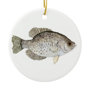 Coffee Themed Crappie Christmas Ornament
