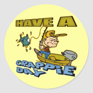 Crappie Day Fishing T-shirts and Gifts Classic Round Sticker