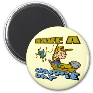 Crappie Day Fishing T-shirts and Gifts 2 Inch Round Magnet