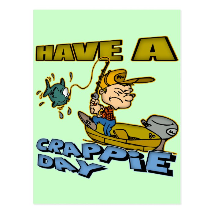 Crappie Day Fishing T-shirts and Gifts Postcard