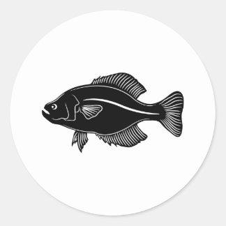Crappie Fish Classic Round Sticker