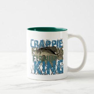 Crappie Fishin' King Two-Tone Coffee Mug