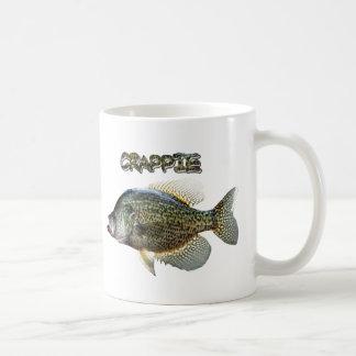 Crappie fishing classic white coffee mug
