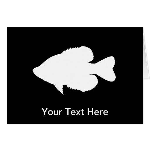 Crappie Fishing graphic - Customizable Card