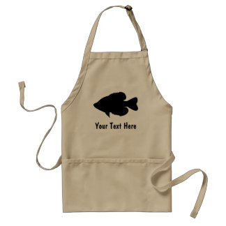 Crappie Fishing template Adult Apron