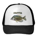 Crappie fishing trucker hat