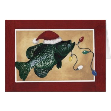 Christmas Themed Crappie Holidays Card