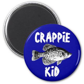 CRAPPIE KID 2 INCH ROUND MAGNET