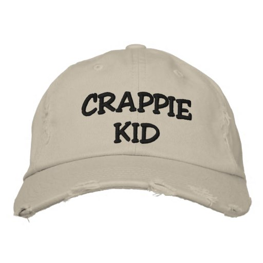 CRAPPIE KID - EMBROIDERED (AND CUSTOMIZABLE) HAT