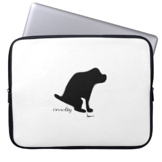 Crapping on Cruelty Laptop Sleeve