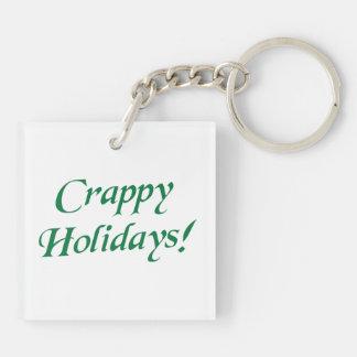 Crappy Christmas Happy Holidays Keychain