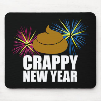 Crappy New Year Mouse Pad