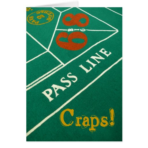 Craps! Belated Birthday Greeting Card