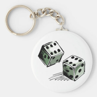 Craps Dice High Roller Gambling Keychain